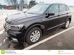 volkswagen tiguan black volkswagen tiguan r line 2017 model editorial stock photo
