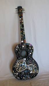 top 25 best guitar decorations ideas on pinterest guitar shelf mosaic guitar pretty for music decor find cheap guitar at thrift store