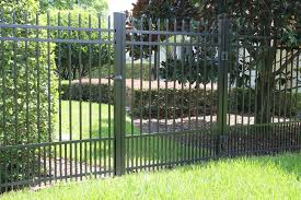 aluminum fencing panel for pet containment from http www fence