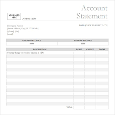 Free Bank Statement Template Excel 7 Bank Statement Templates Word Excel Pdf Formats