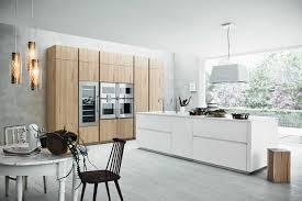 cuisine moderne blanche et cuisine blanc et bois photo stunning deco cuisine blanc et bois