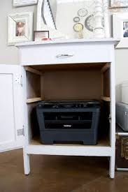 desk with printer storage hidden printer storage i already have one of these small