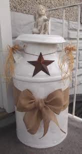 Old Milk Can Decorating Ideas This Was An Easy Project Using An Old Milk Can All You Need Is An