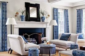 20 blue and white family living rooms
