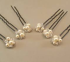 pearl hair pins wedding hair accessories pearl and hairpins jeweled