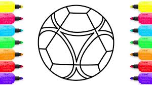 soccer ball coloring pages and simple example of drawing art