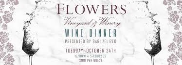 flowers wine flowers wine dinner