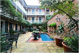 the french quarter condo life is full of many small courtyards and