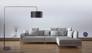 Standleuchten Wohnzimmer Beleuchtung Beliani Stehlampe Schwarz Standlampe Standleuchte