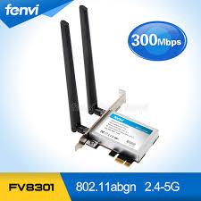 antenne wifi pour pc bureau 300 mbps dual band wifi pci e adaptateur antennes sans fil