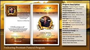 funeral program covers funeral program endearing template funeralprinter