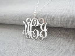 Personalized Monogram Necklace Personalized Monogram Necklace Monogrammed Pendant U2013 Nanvo Com