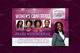 women u0027s conference flyer template flyer templates creative market