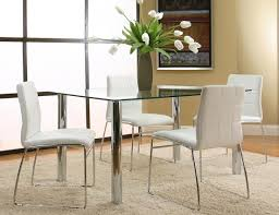 casual dining room sets napoli white rt table 4 chairs f5476 565 cramco casual dining