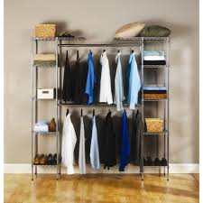 Bedroom Wall Organizers Bedroom Stunning Walk In Closet Design With Gray Metal Closet