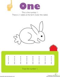 10 best number 1 worksheets images on pinterest coloring pages