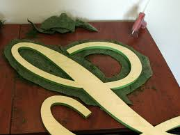 how to create a moss covered letter