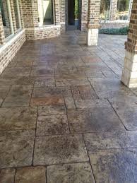 Sub Base For Patio by Stamped Concrete Patio For Walk Out Basement And Under The Deck