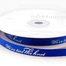 personalized wedding ribbon we ve the knot personalized wedding ribbon the knot shop
