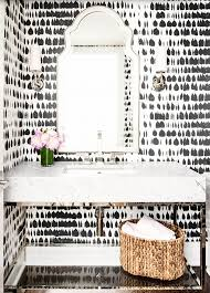 Black And White Powder Room 3 Powder Rooms That Will Make You A Wallpaper Believer Hello Fashion
