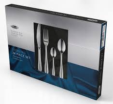 stellar sterling 18 10 stainless steel 24 piece cutlery set bt50
