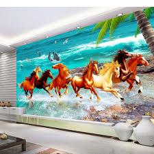 papier peint chevaux pour chambre 3d peintures murales personnalisées papier peint pour les murs diy
