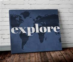 World Map Prints by Explore World Map Print