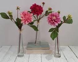 Single Stem Glass Vase Handmade Faux Flower Arrangements U0026 Flower By Anniethompsonflowers