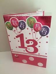 13th happy birthday card teenager teen 13 girls thirteen