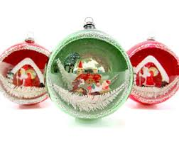 vintage ornaments decorations by thisthatandchristmas