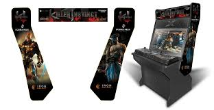 sit down arcade cabinet customer submitted killer instinct inspired graphics theme for the