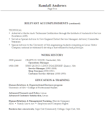 automotive resume template resume for an automotive service