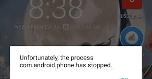 process android phone has stopped plus linux unfortunately the process android phone has