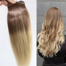 clip in hair extensions uk ombre indian remy clip in human hair extensions t6 613 brown