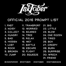 the inktober initiative mr jake parker