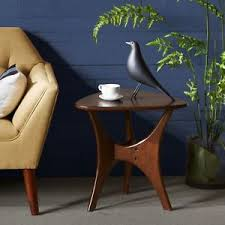 ink ivy blaze brown triangle wood side table ink ivy blaze brown triangle wood side table ebay