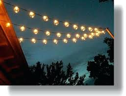 Hanging Patio Lights String Outdoor Clear Hanging Garden String Light Patio Lights Hanging