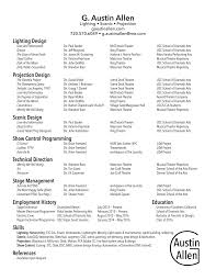 Resume Of An Electrician Résumé U2014 G Austin Allen Design