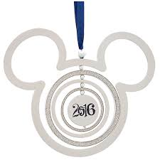 your wdw store disney ornament silver metal mickey