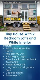 tiny house 2 bedroom tiny house with 2 bedroom lofts and white interior
