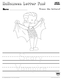 halloween letter fun scary vampire lotty learns