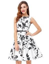 grace karin boatneck sleeveless vintage tea dress with belt at