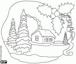 Coloriage Paysages de Noël à imprimer