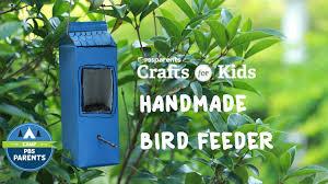 diy bird feeder crafts for kids pbs parents youtube