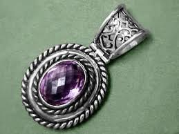 silver sterling pendant necklace images Amethyst jewelry natural amethyst jewelry jpg