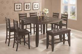 coaster page contemporary rectangular semi formal dining table