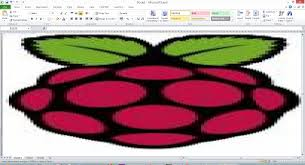how to create a picture by changing cell colors in excel using