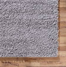 Modern Gray Rug Silver Shaggy Carpet Soft Modern 5cm Pile Thick Contemporary Area