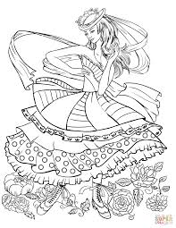 dancing in a vintage fashion clothing coloring page free