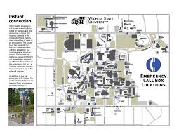 Map Of Wichita Ks Wsu Campus Safety Callboxes Wichita State University